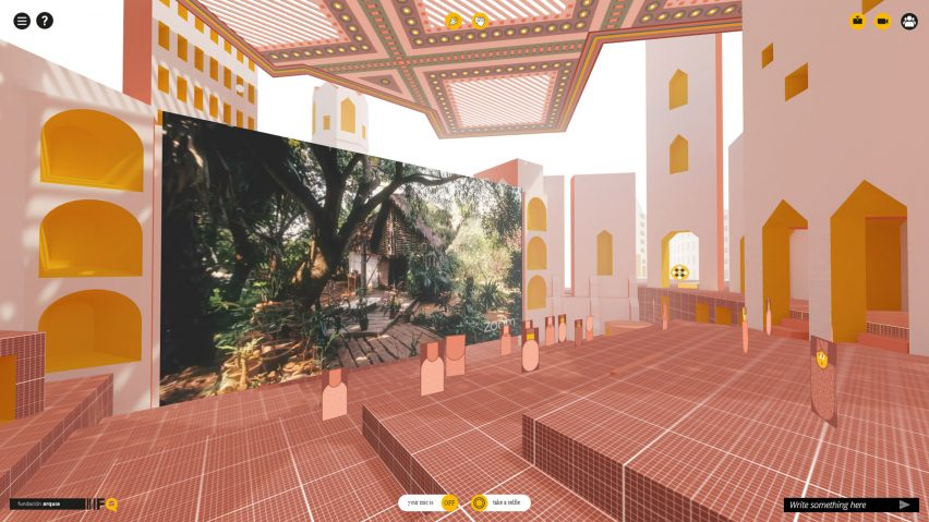 View of virtual architecture conference by Space Popular