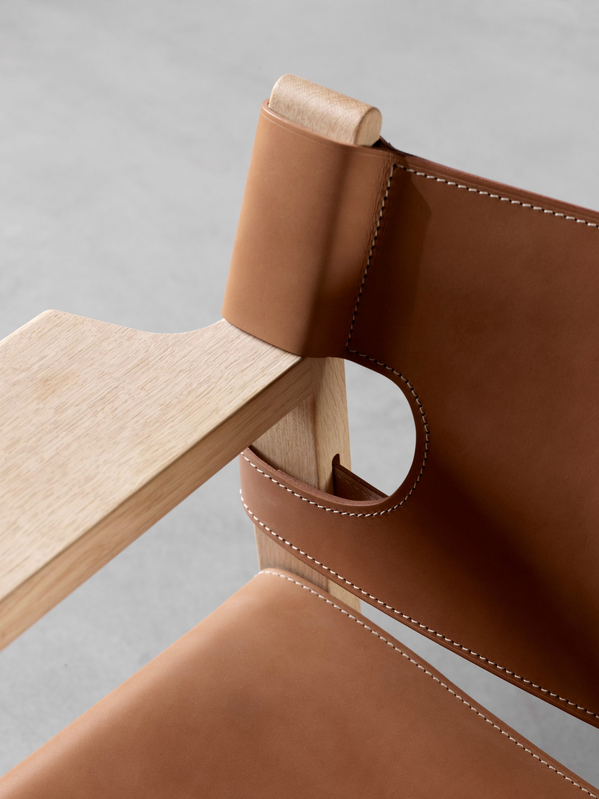 Detail of the Spanish Chair by Børge Mogensen for Danish brand Fredericia