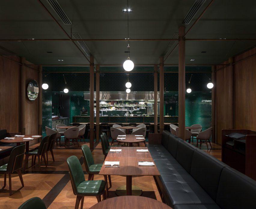 Restaurant inside The Sukhothai Shanghai hotel