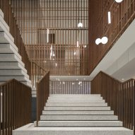 Terrazzo and bronze staircase forms focal point of The Sukhothai hotel by Neri&Hu