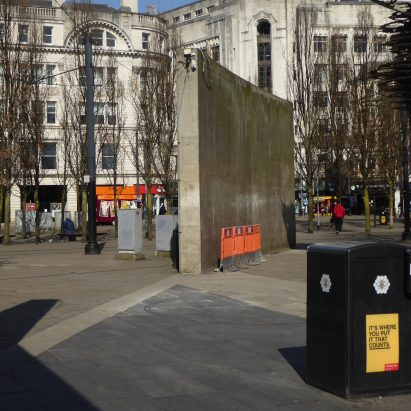 Tadao Ando's wall in Piccadilly Gardens, Manchester