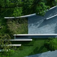 Landscaped area outside the He Art Museum by Tadao Ando