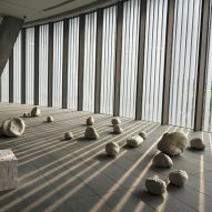 Gallery inside the He Art Museum by Tadao Ando