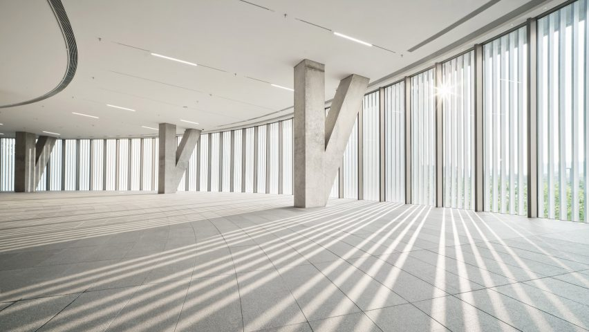 A gallery inside Tadao Ando's He Art Museum in China