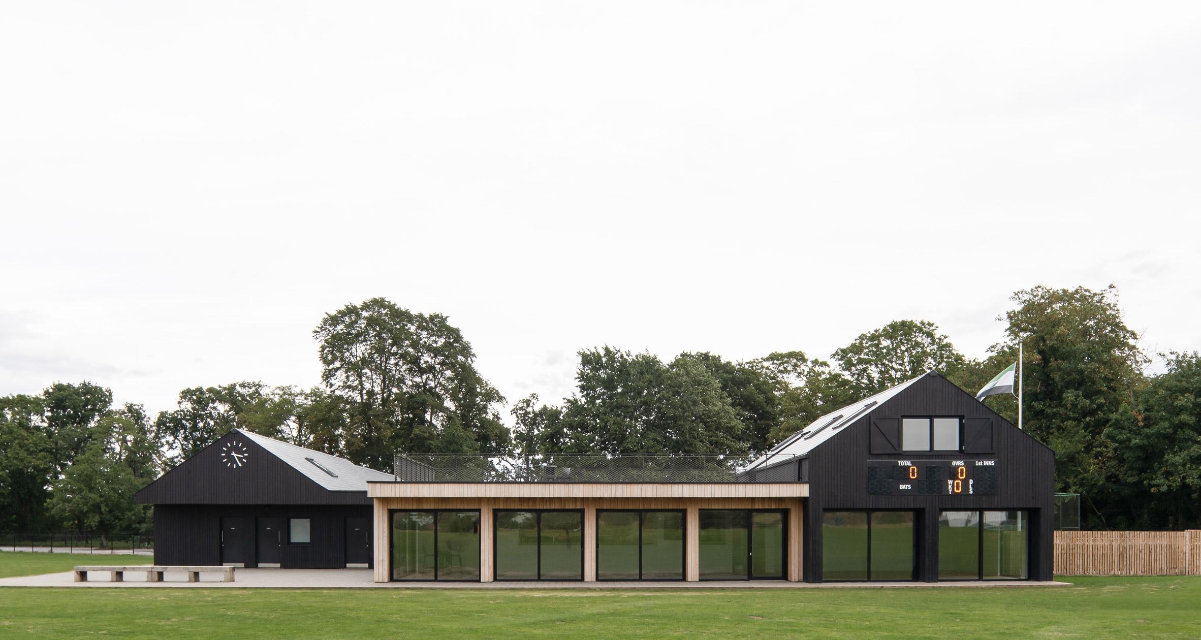 Cricket pavilion in London