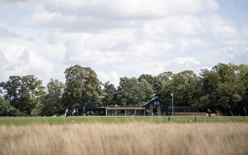 Cricket pavilion in London park