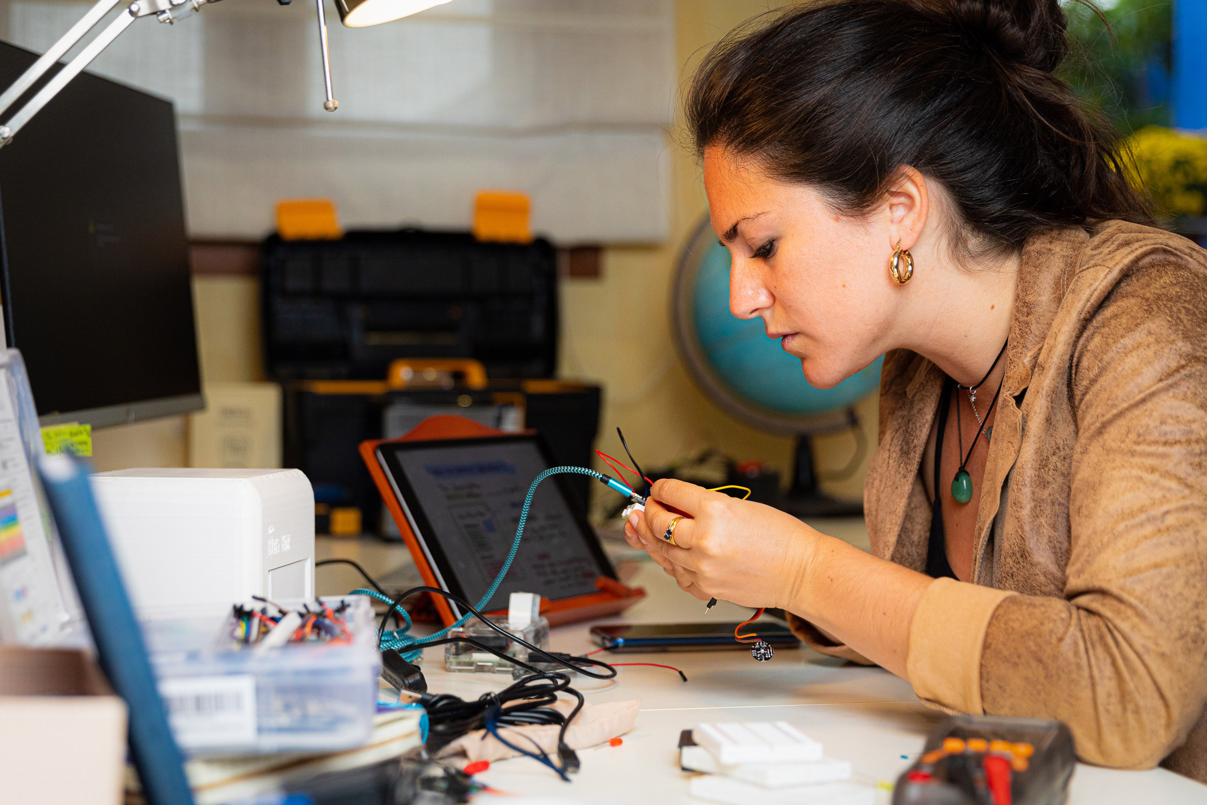 Judit Giró Benet developing The Blue Box, an at-home breast cancer testing kit