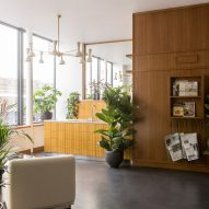 Interiors of The Bureau co-working space in Paris