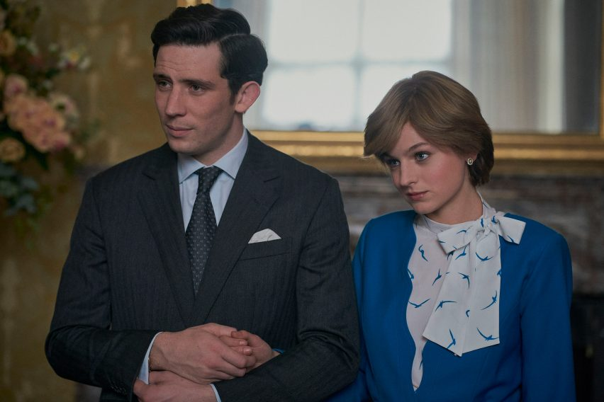 Emma Corrin as Diana and Josh O'Connor as Charles in The Crown season 4