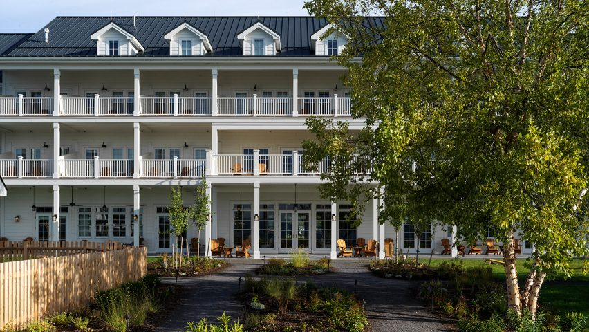Lake House on Canandaigua hotel by Studio Tack and the Brooklyn Home Company