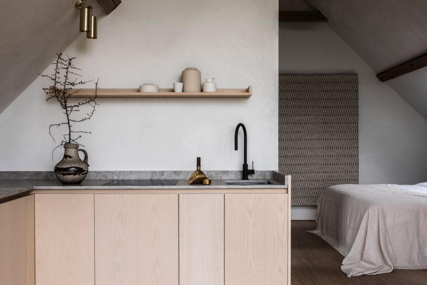 Kitchen of TypeO Loft in Sweden