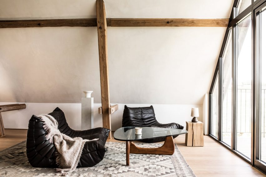 Living room of TypeO Loft in Sweden