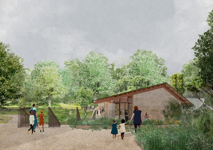A visual of the Urban Nature Project's Learning Centre by Feilden Fowles