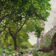 A view the Urban Nature Project's east garden by Feilden Fowles