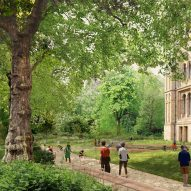 A view the Urban Nature Project's west garden by Feilden Fowles