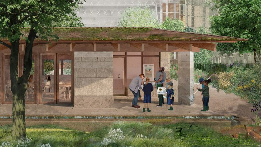 The proposed Learning Centre of the Urban Nature Project by Feilden Fowles