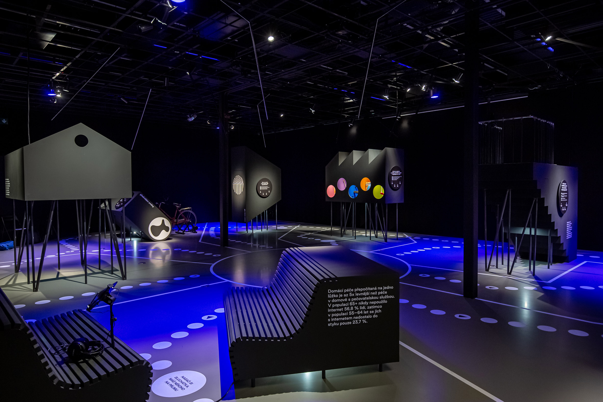 Overview of Urbania exhibition designed by RSAA for IPR Praha in Prague, Czech Republic