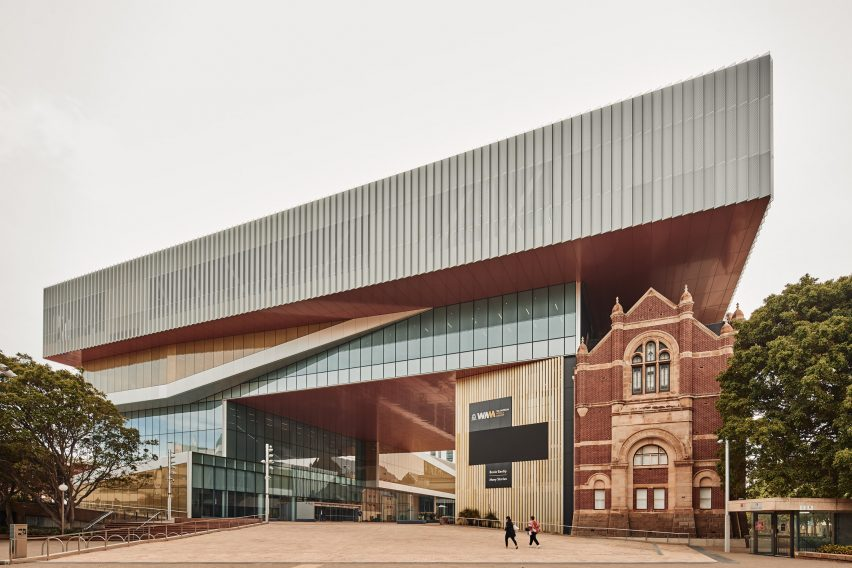 Main entrance of the WA Museum Boola Bardip by OMA and Hassell