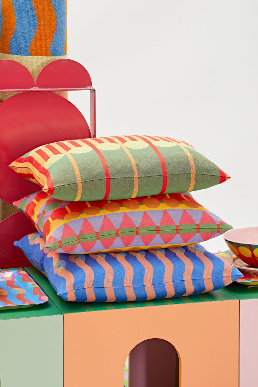 Pillows from Yinka Ilori homeware collection