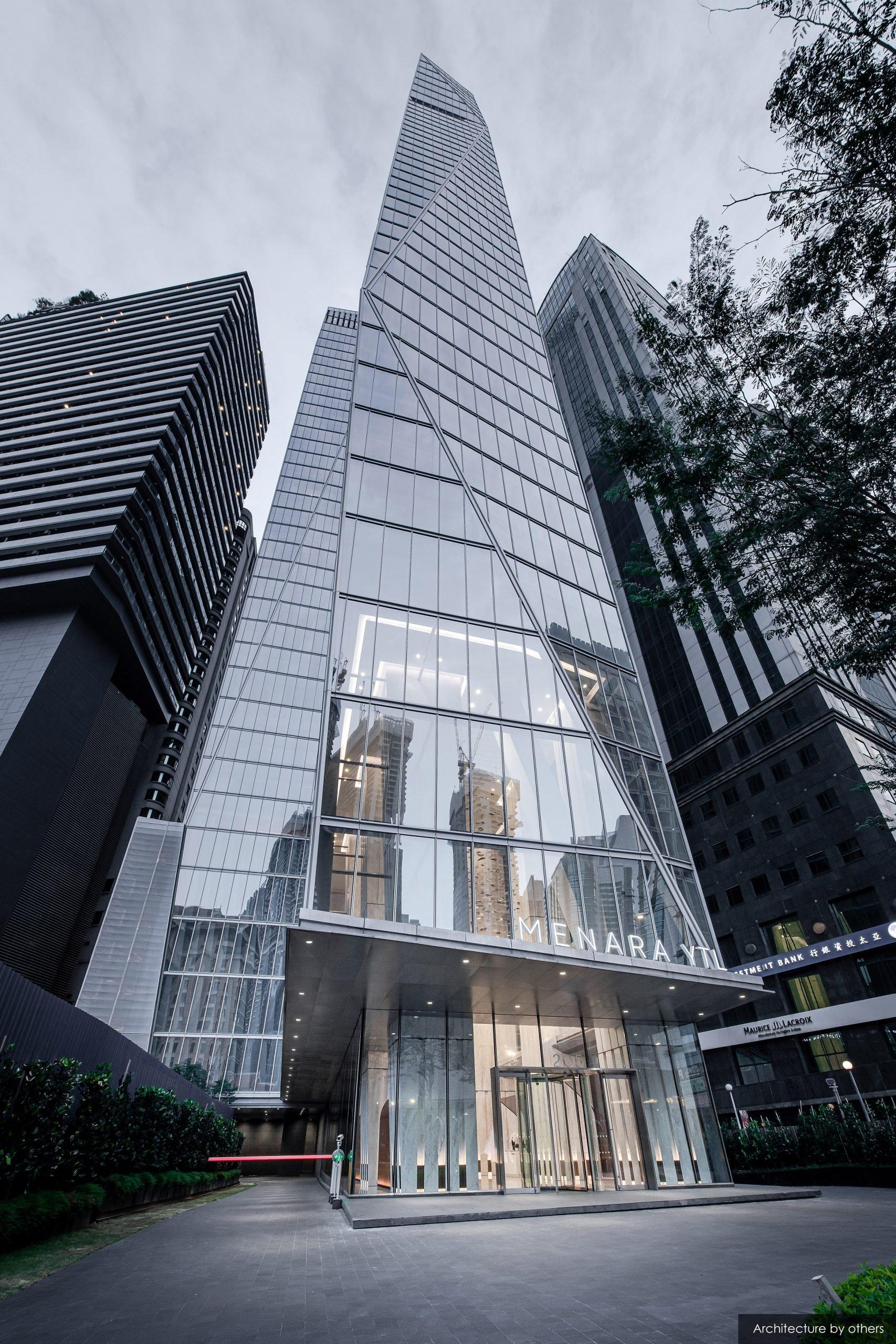 The YTL Headquarters skyscraper in Kuala Lumpur by Kohn Pedersen Fox