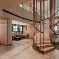 Staircase by Ministry of Design inside YTL Headquarters in Kuala Lumpur