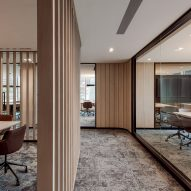Private meeting spaces by Ministry of Design inside YTL Headquarters in Kuala Lumpur
