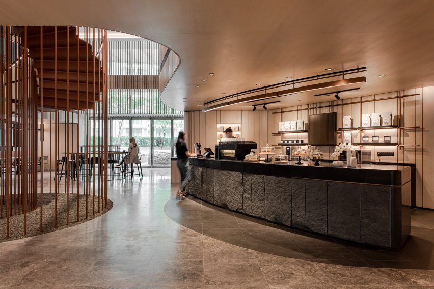 The cafe by Ministry of Design in the YTL Headquarters in Kuala Lumpur