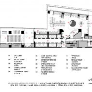 Floor plan for Level 8 meeting spaces by Ministry of Design inside YTL Headquarters in Kuala Lumpur