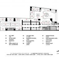 Floor plan for Level 9 meeting spaces by Ministry of Design inside YTL Headquarters in Kuala Lumpur