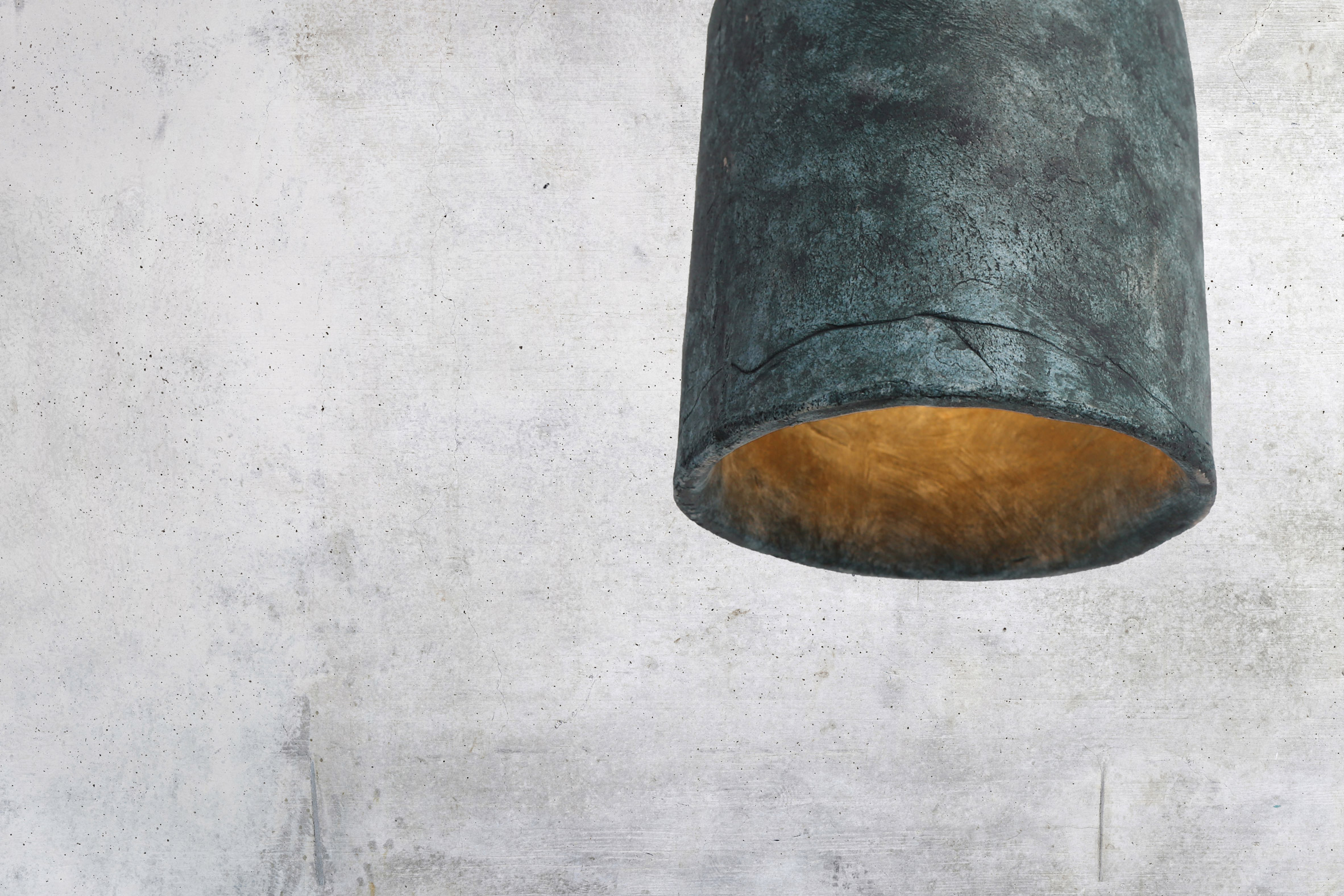Osier Ceramic Pendant Light by Mullan Ceramics in Blue Earth
