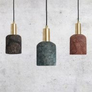 Osier ceramic pendant light by Mullan Lighting