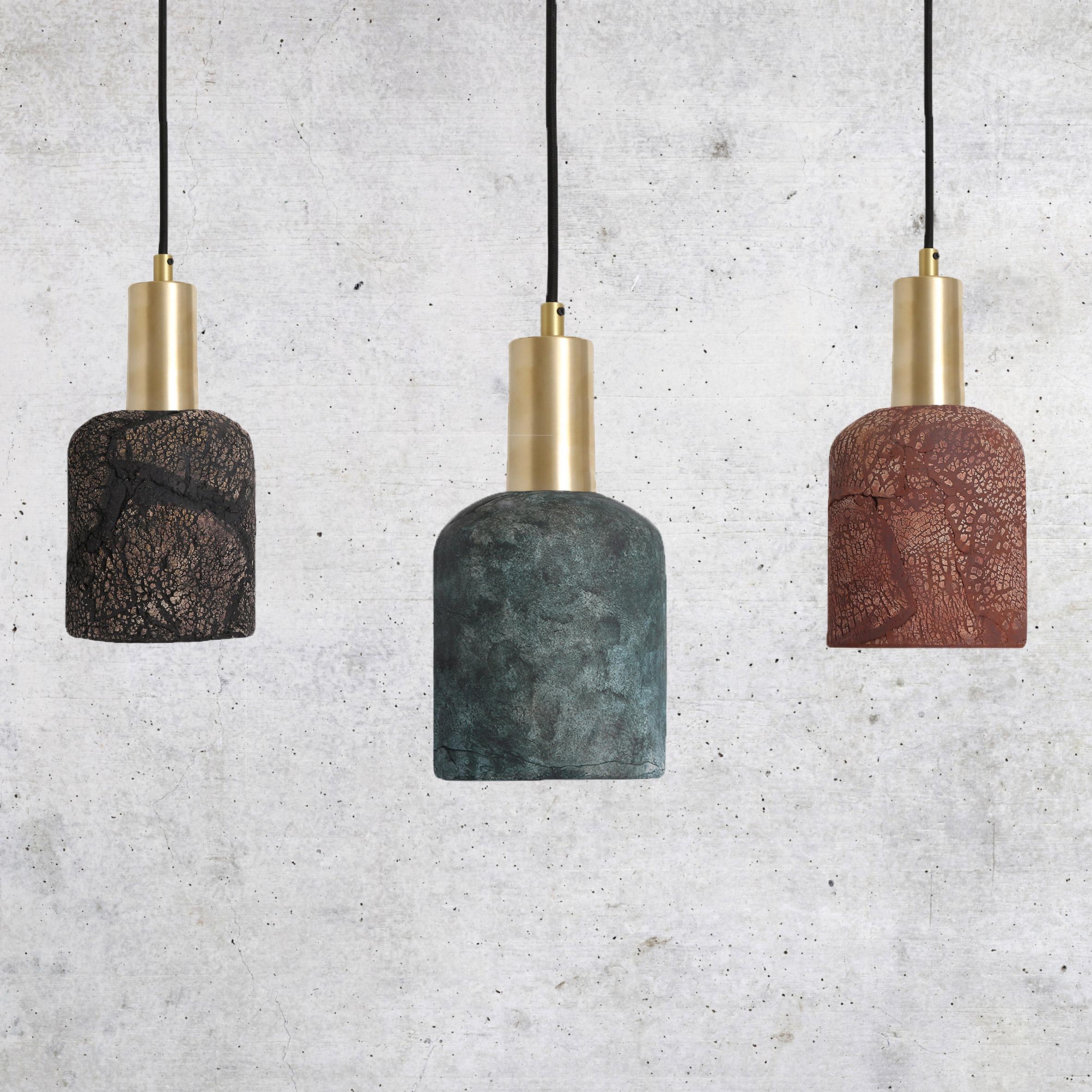 Osier Ceramic Pendant Light by Mullan Ceramics