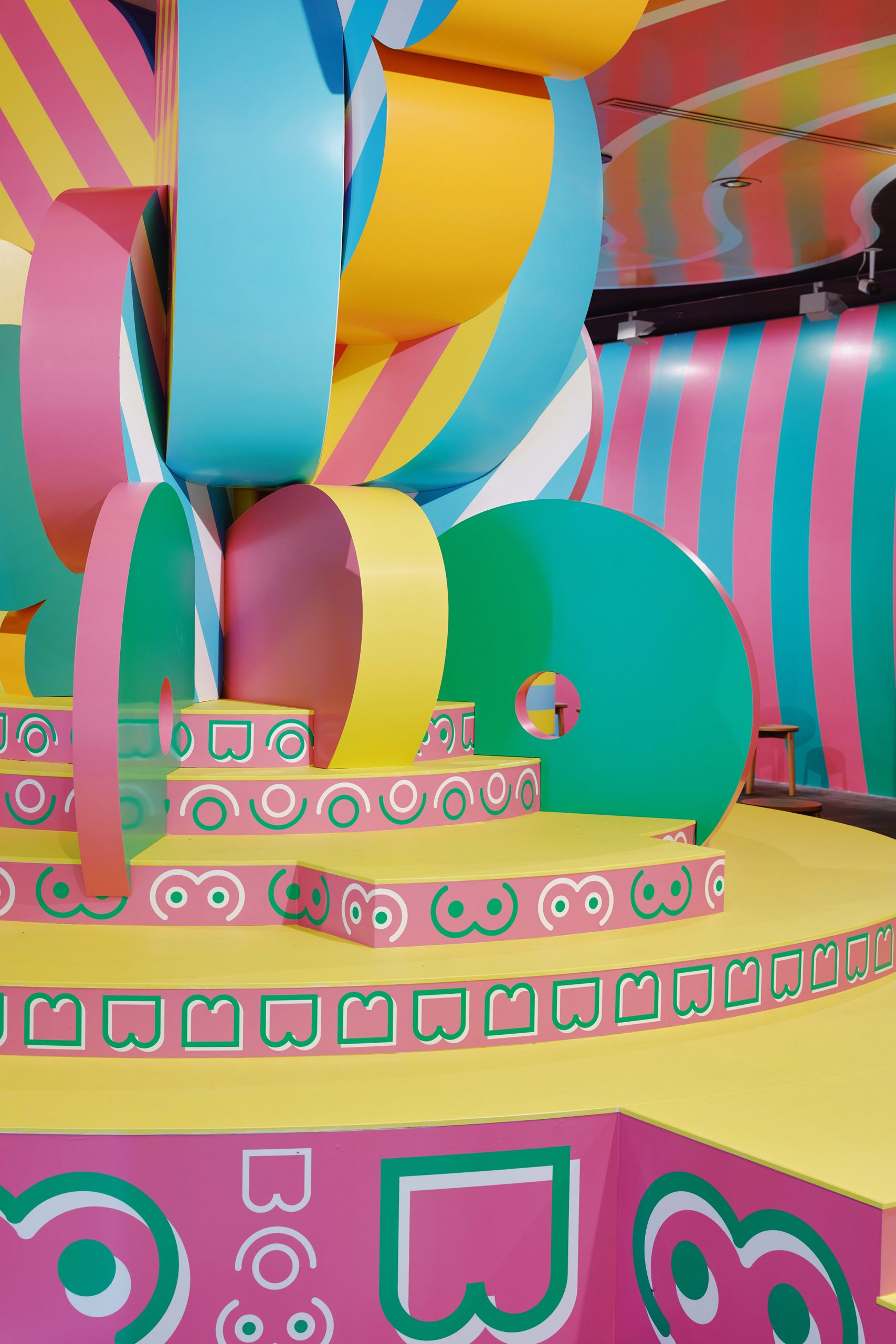 NGV installation by Adam Nathaniel Furman and Sibling Architecture