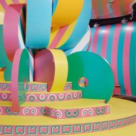"Adam Nathaniel Furman and Sibling Architecture design ""super-camp"" Boudoir Babylon installation"