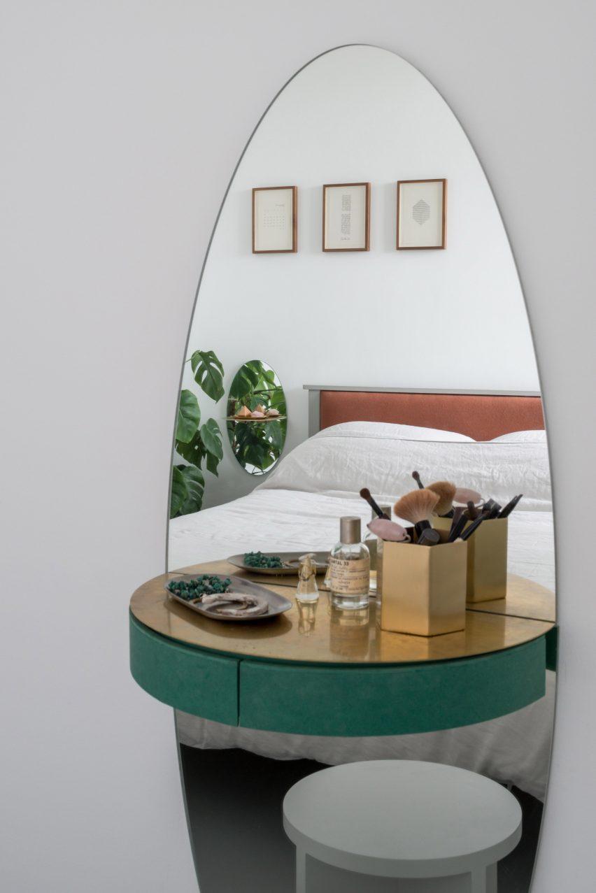 Bedroom of architect Ben Allen's London flat
