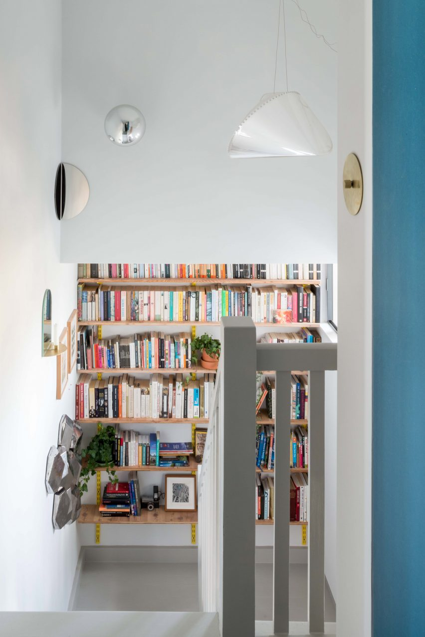 Architect Ben Allen's London flat includes art from Olafur Eliasson in the stairwell
