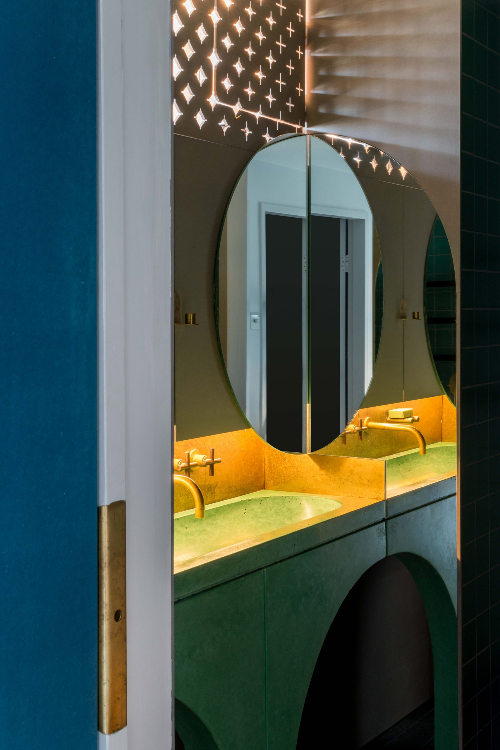 Bathroom of architect Ben Allen's London flat