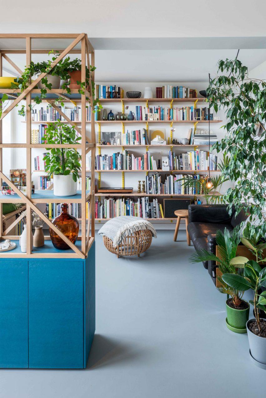 Living room of architect Ben Allen's London flat