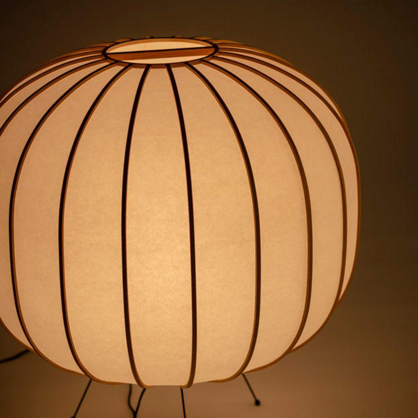 Bombori handmade washi paper lamp by Boffi