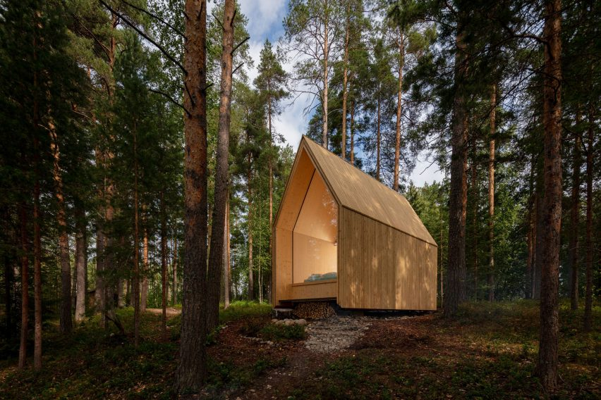 Cross-laminated timber cabin