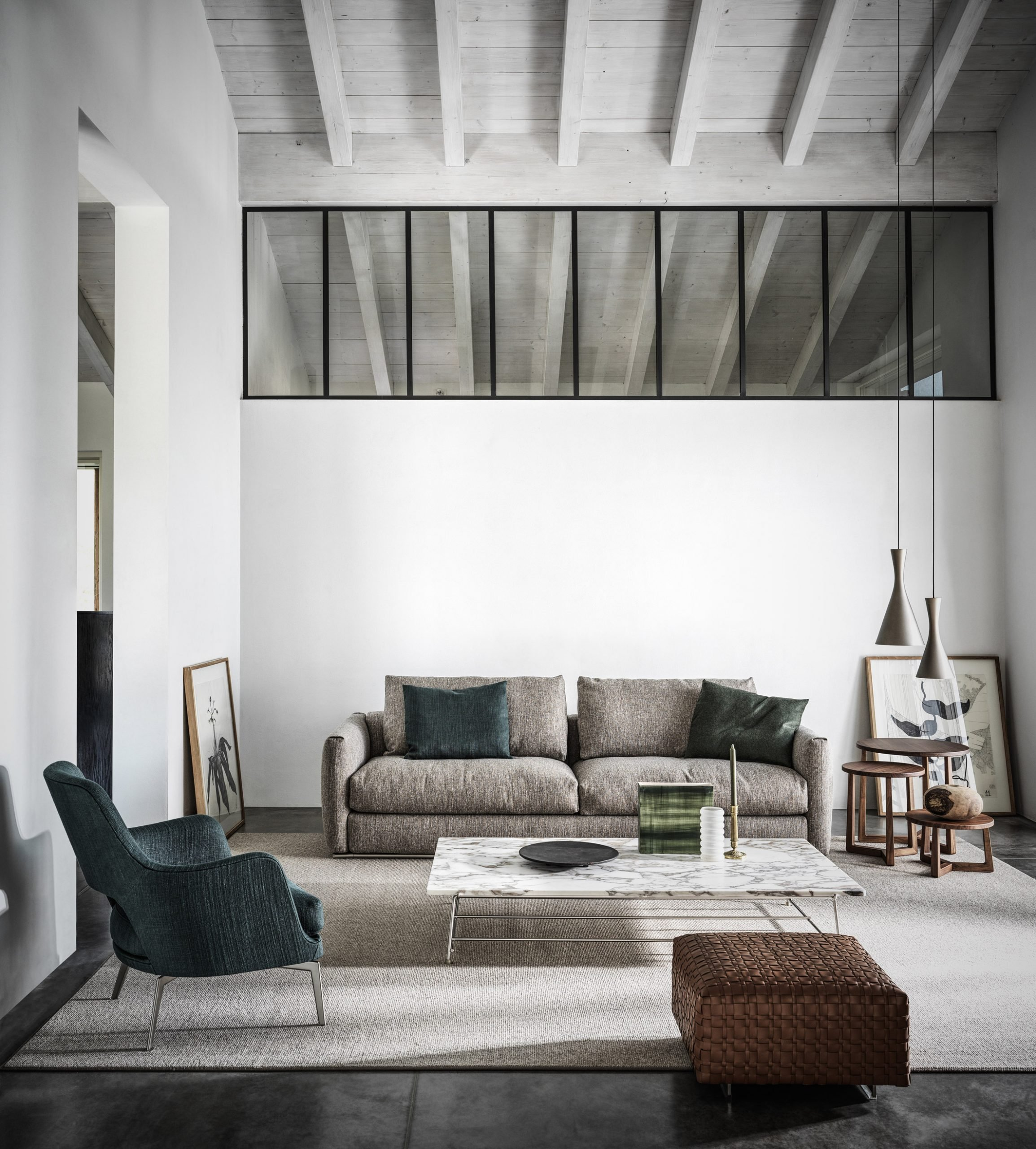 Living room at Country House in the Piacenza Hills by Studio Koster