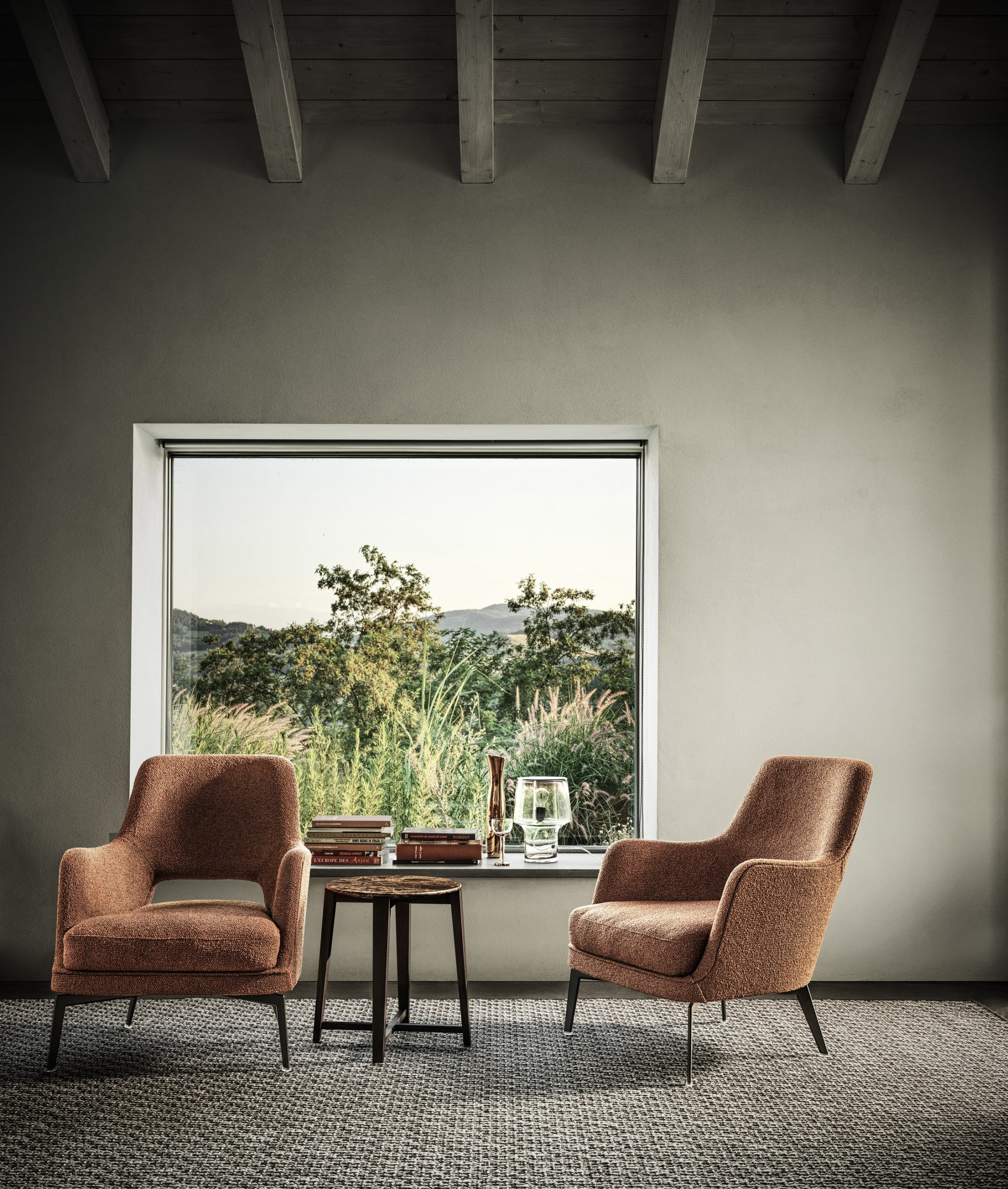 Window seat at Country House in the Piacenza Hills by Studio Koster