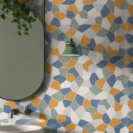 Ceramiche Refin references Mediterranean tones and patterns in Riflessi tiles