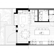 Charred House ground floor plan by Rider Stirland Architects in London