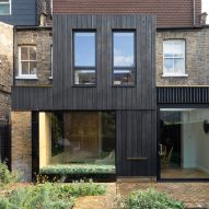 Victorian townhouse in London remodelled with charred-wood extension