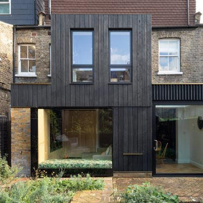 The Charred House extension by Rider Stirland Architects in London