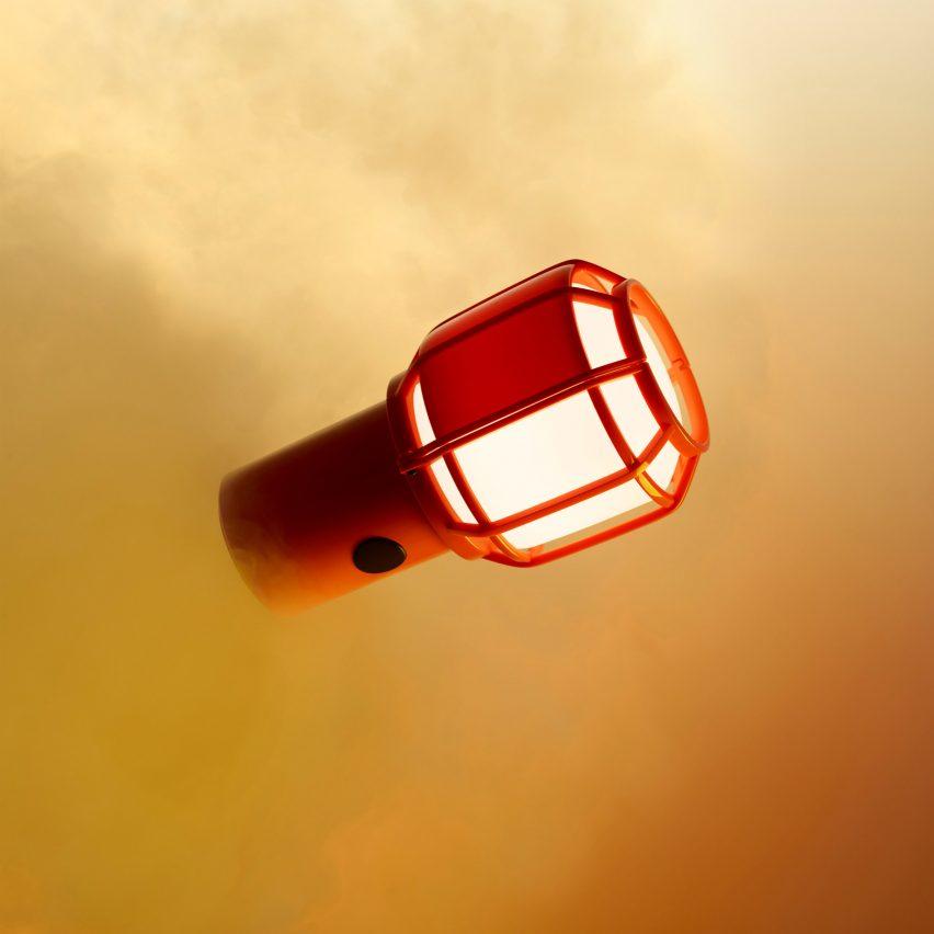 Orange Chispa lamp by Marset