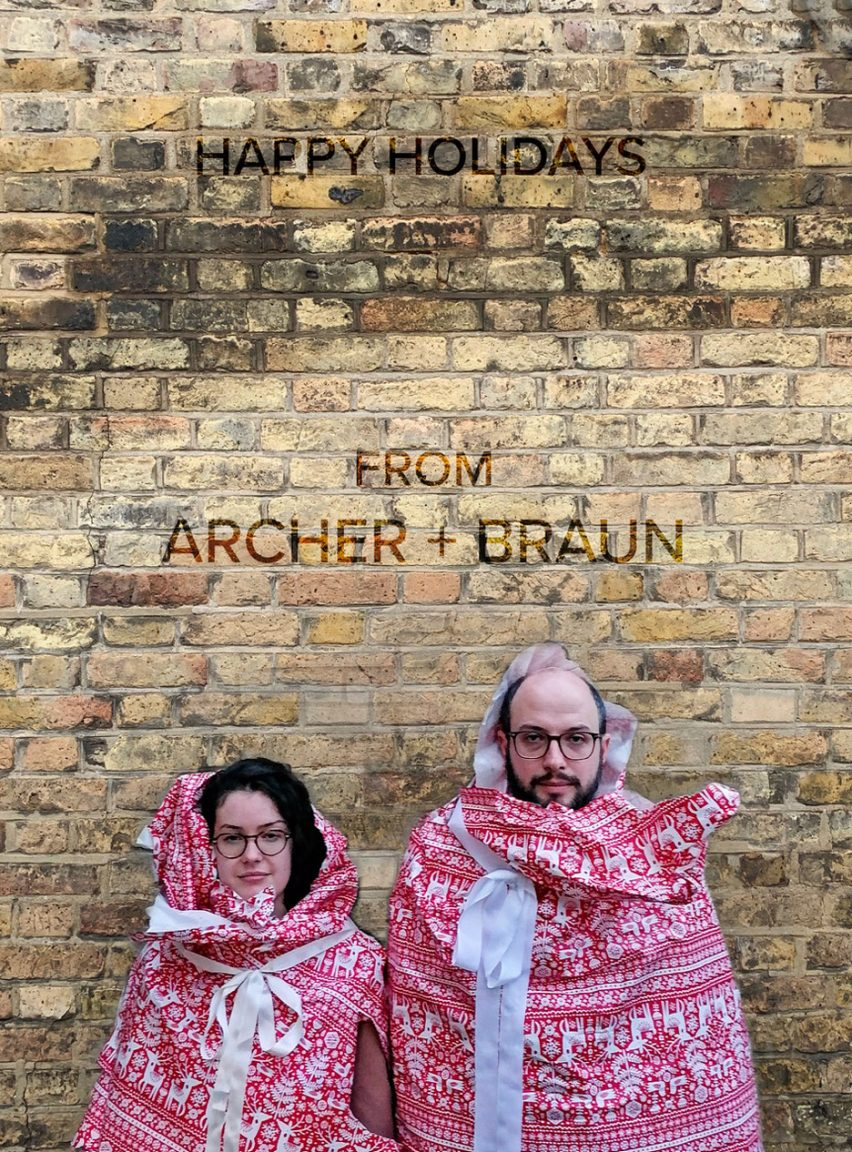 Christmas card by Archer + Braun