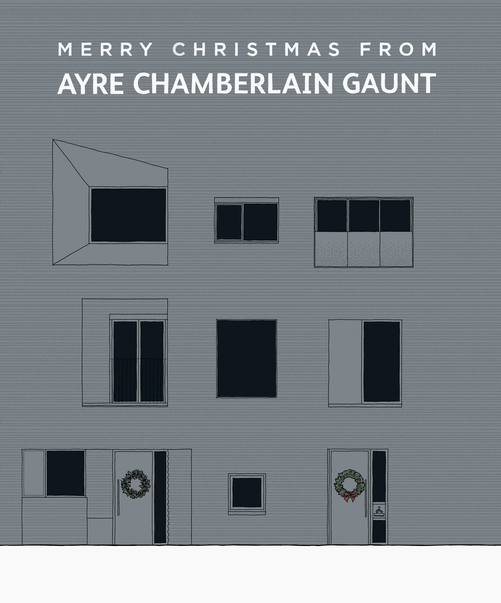 Christmas card by Ayre Chamberlain Gaunt