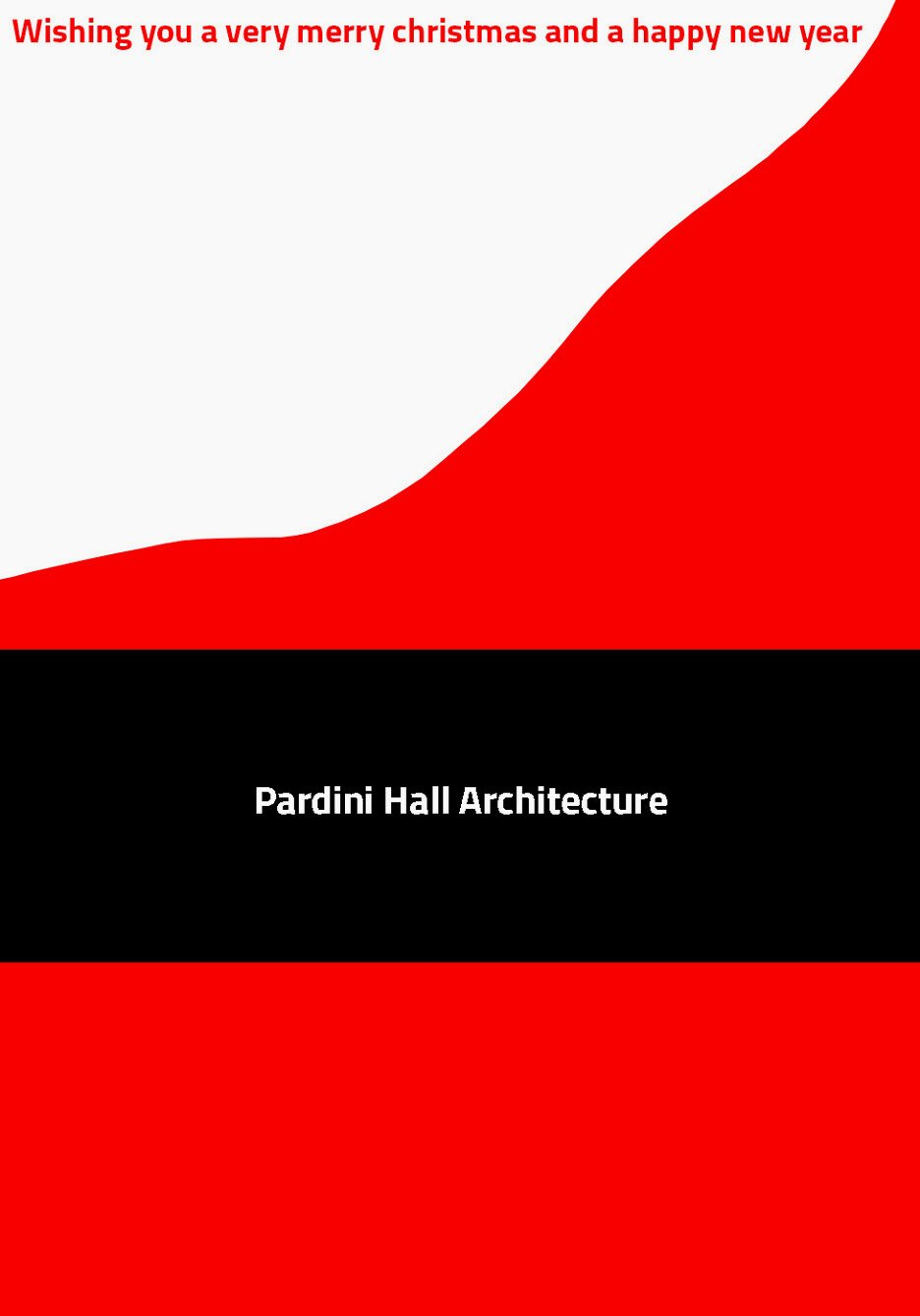 Christmas card by Pardini Hall Architecture